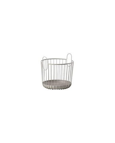 Šedý kovový úložný košík Zone Inu,ø30cm