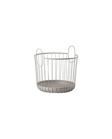 Šedý kovový úložný košík Zone Inu,ø40,6cm