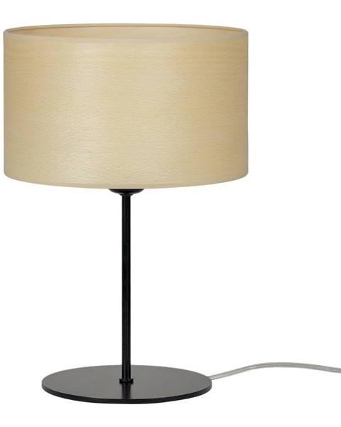 Sotto Luce Béžová stolní lampa z přírodní dýhy Sotto Luce Tsuri S Light, ⌀ 25 cm