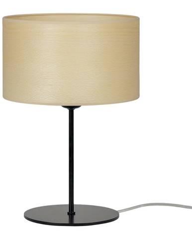 Béžová stolní lampa z přírodní dýhy Sotto Luce Tsuri S Light, ⌀ 25 cm