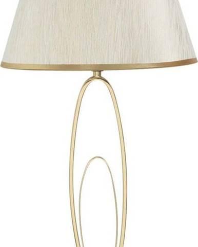 Bílá stolní lampa s konstrukcí ve zlaté barvě Mauro Ferretti Glam Flush
