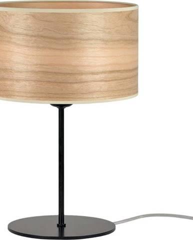 Světle hnědá stolní lampa z přírodní dýhy Sotto Luce Tsuri S, ⌀ 25 cm