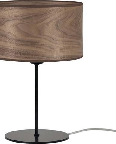Tmavě hnědá stolní lampa z přírodní dýhy Sotto Luce Tsuri S, ⌀ 25 cm