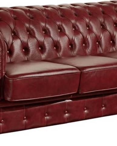 Červená kožená pohovka Max Winzer Norwin, 200 cm