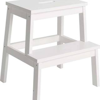 Bílá stolička/schůdky Rowico Nanna