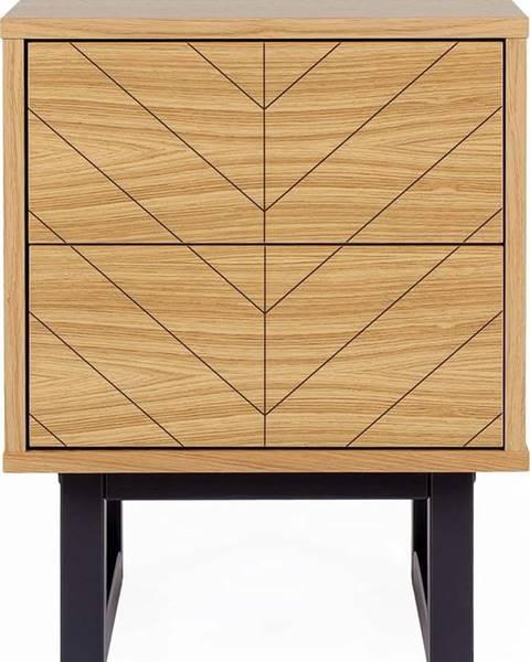 Woodman Noční stolek vdubovém dekoru Woodman Camden Herringbone
