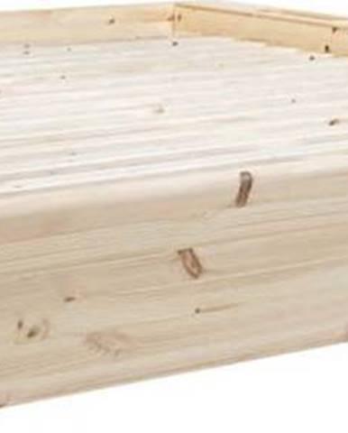 Dvoulůžková postel z masivního dřeva s úložným prostorem Karup Design Ziggy, 180 x200cm
