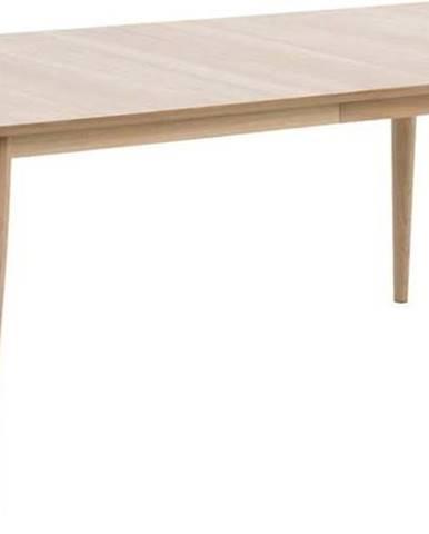 Rozkládací jídelní stůl s podnožím z dubového dřeva Actona Century,200x100cm