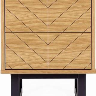 Noční stolek vdubovém dekoru Woodman Camden Herringbone