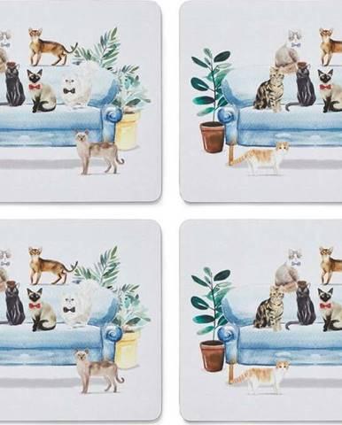 Sada 4 ks prostírání z korku Cooksmart ® Curious Cats