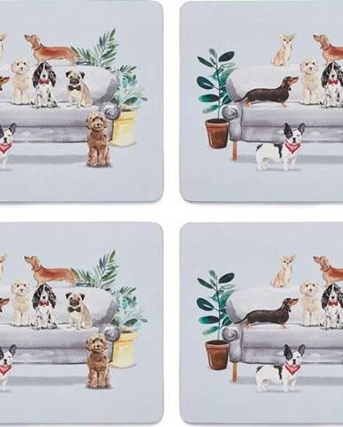 Set 4 ks prostírání z korku Cooksmart ® Curious Dogs