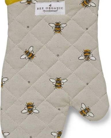 Béžovo-žlutá bavlněná kuchyňská rukavice Cooksmart ® Bumble Bees