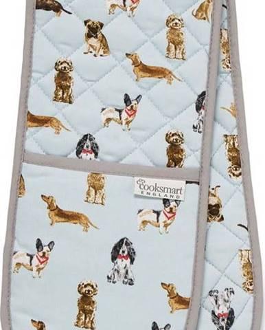 Dvojitá bavlněná chňapka Cooksmart ® Curious Dogs