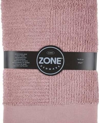 Růžová bavlněná osuška Zone Classic, 70x140cm