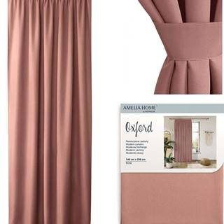 Růžový závěs AmeliaHome Pleat,140x250cm