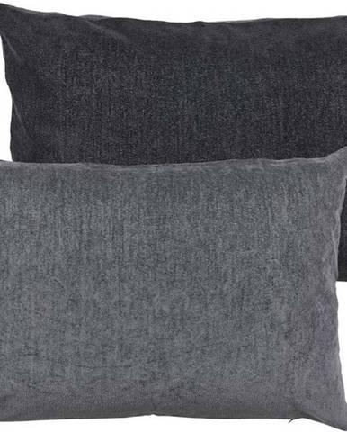 Šedý polštář s vysokým podílem bavlny Södahl Klara, 40 x 60 cm