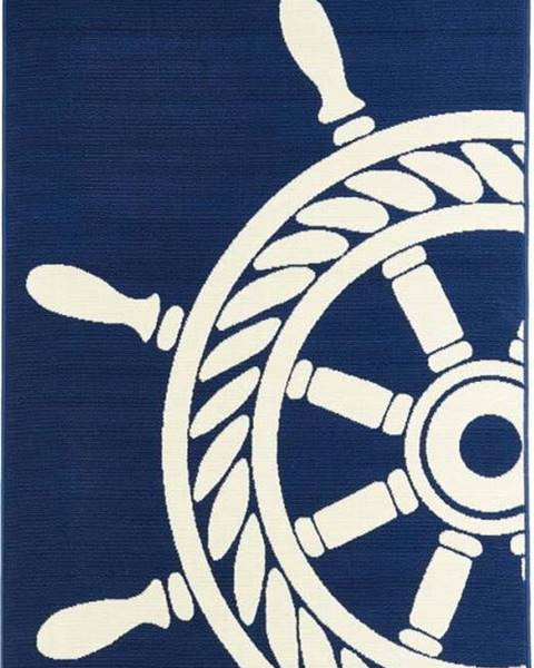 Floorita Tmavě modrý venkovní koberec Floorita Wheel, 133 x 190 cm