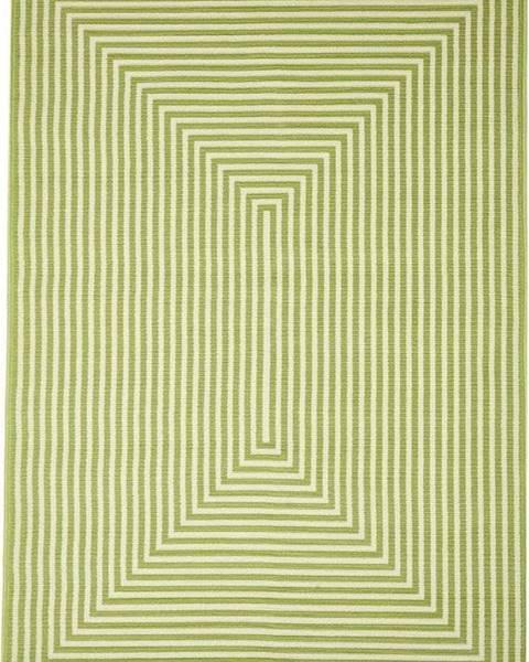 Floorita Zelený venkovní koberec Floorita Braid, 133 x 190 cm