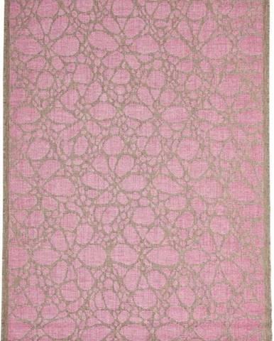 Růžový venkovní koberec Floorita Fiore, 160 x 230 cm