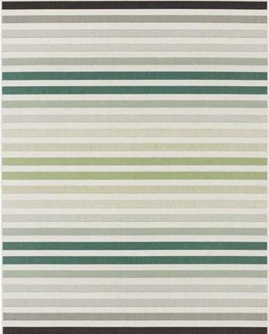 Zeleno-šedý venkovní koberec Bougari Paros, 80 x 150 cm
