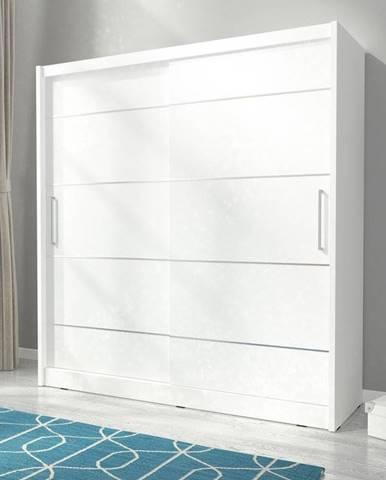 skříň MARY ALU 180, bílá