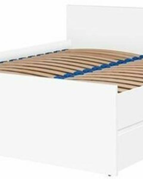 ERA Dvoulůžková postel CRYSTAL 140x200, bílá