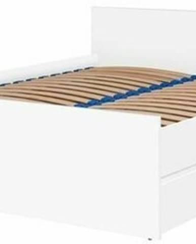 Dvoulůžková postel CRYSTAL 140x200, bílá