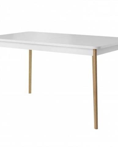 Rozkládací stůl NOVA 140, bílá/dub riviera