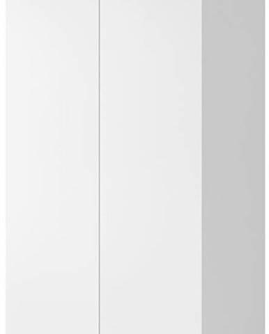 Šatní skříň Corinto, bílá/bílý lesk