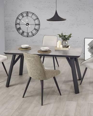 Halmar Jídelní stůl HALIFAX, černý/beton