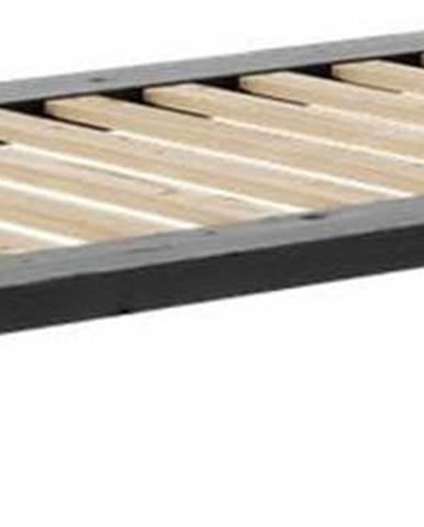 Černá jednolůžková postel z masivního borovicového dřeva Karup Design Senza, 90 x 200 cm