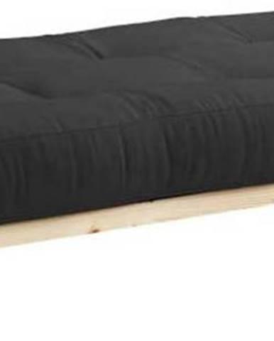 Jednolůžková postel z masivního borovicového dřeva s matrací Karup Design Senza Double,90x200cm
