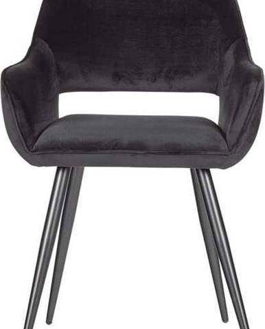 Sada 2 černých jídelních židlí WOOOD Jelle