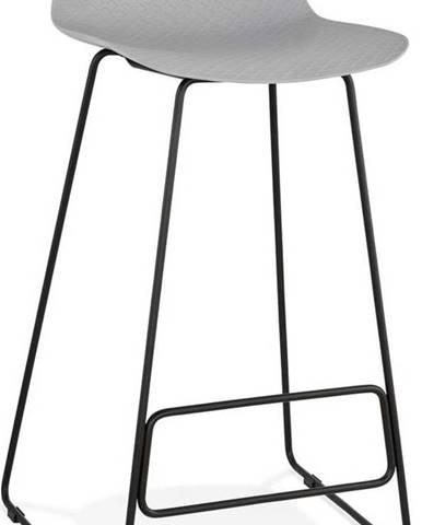 Šedá barová židle s černými nohami Kokoon Slade, výškasedu76cm