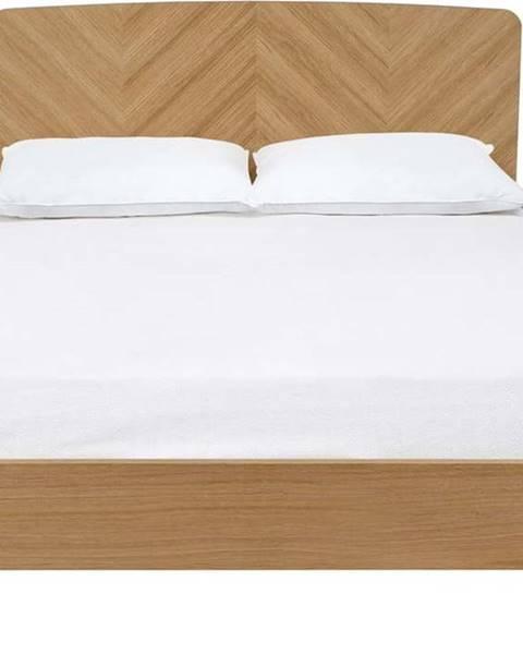 Woodman Dvoulůžková postel Woodman Farsta Herringbone, 180 x 200 cm