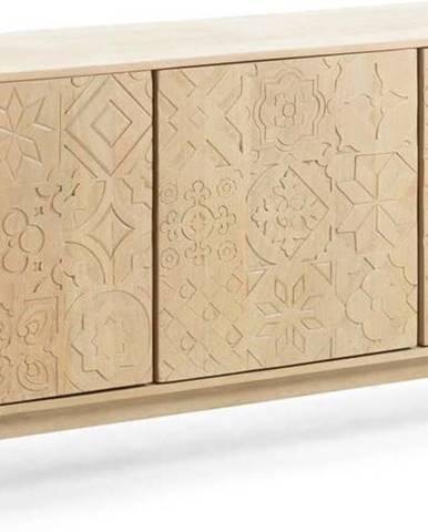 Komoda z mangového a akáciového dřeva La Forma Sakoi, 162x75 cm