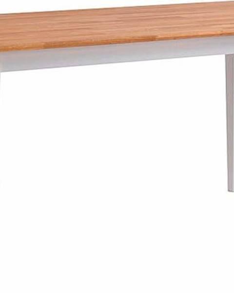 Rowico Přírodní dubový jídelní stůl s bílými nohami Rowico Mimi, 180 x 90cm
