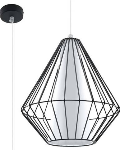 Černé závěsné svítidlo Nice Lamps Alfredo