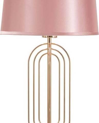 Růžová stolní lampa Mauro Ferretti Krista,výška55cm