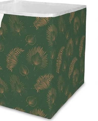 Zelený úložný box z mikrovlákna Butter Kings Boho Leaves,32l