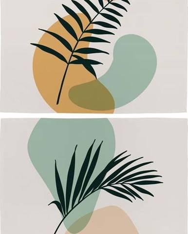 Sada 2 ks bavlněného prostírání Butter Kings Botanical Art