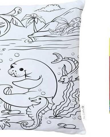 Barvící polštář Mr. Little Fox Little Chat About The Beach, 45 x 45 cm