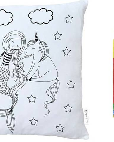 Set povlaku na polštář z bavlněného saténu a fixů na textil Mr. Little Fox Fox Mermaid Tales, 50x50cm