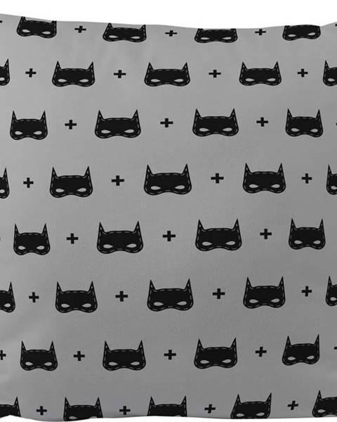 Mr. Little Fox Bavlněný dětský polštář Mr. Little Fox Batman, 45 x 45 cm
