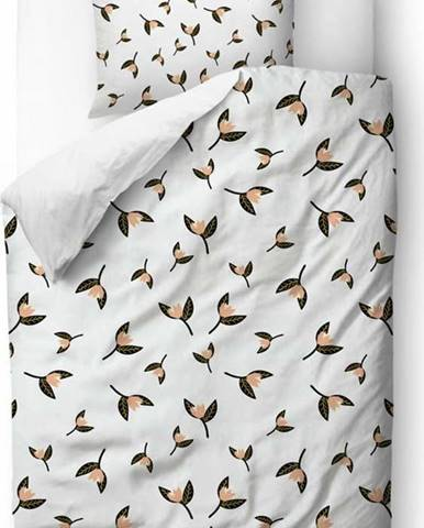 Povlečení z bavlněného saténu Butter Kings Floating Magnolia,135x200 cm