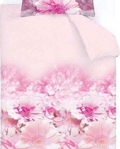 Růžové povlečení Catherine Lansfield Daisy Dreams, 135 x 200 cm