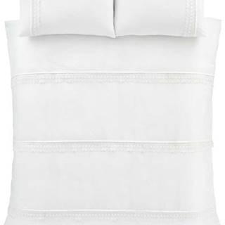 Bílé povlečení Catherine Lansfield Delicate Lace, 135 x 200 cm