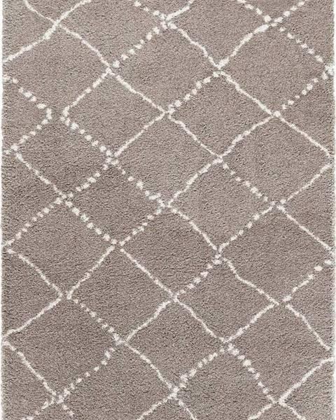 Mint Rugs Hnědý koberec Mint Rugs Hash, 80 x 150 cm