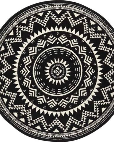 Černý koberec Hanse Home Celebration, ⌀ 140 cm