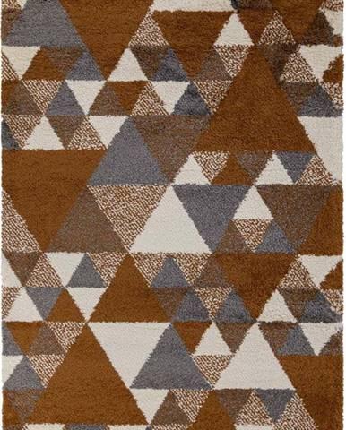 Oranžovo-šedý koberec Flair Rugs Nuru, 120 x 170 cm